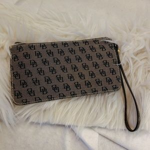 Authentic grey Dooney & Bourke wristlet wallet